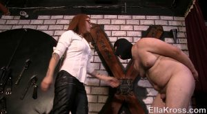 Torturing Slave`s Cock and Balls with My Heels