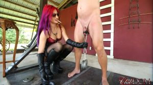 Amadahy's Ball Stretch and Burn – Cruel Unusual FemDom