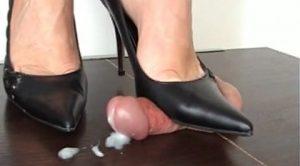 BLACK HEELS – Mistress Arletta – Aballs and cock crushing sexbomb