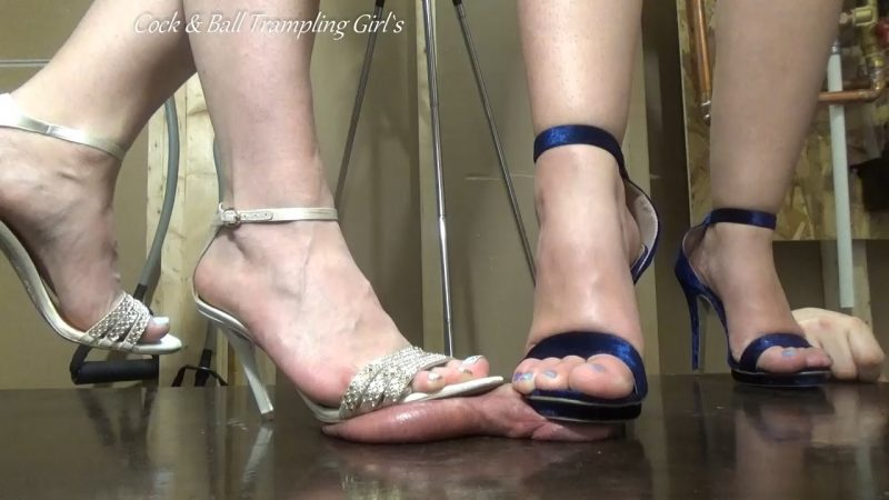 2 girls cock trample with shoes 9