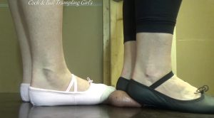 Nut-Cracker CBT Ballet! – Cock and Ball Trampling Girls