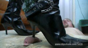 efcl174 trampling in sharp high heels fullHD – Elegant femdom
