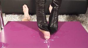 Lady Latisha's Extreme Sadistic Shoejob in Black Boot – High Heels Goddess – Lady Latisha