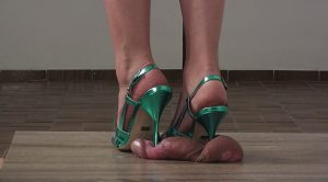 Lady Latisha's Full Weight Cock Crushing Shoejob Clip 4A – Close Up! – High Heels Goddess – Lady Latisha