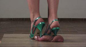 Lady Latisha's Full Weight Cock Crushing Shoejob Clip 4A – Close Up! – High Heels Goddess – Lady Latisha