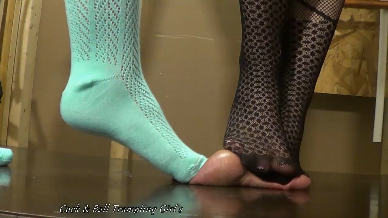 pantyhose ball trample