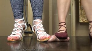 Your Balls Crushed by Two Goddesses! – Anika, Athena – Cock and Ball Trampling Girls