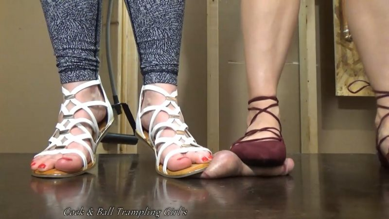 2 girls cock trample with shoes 7