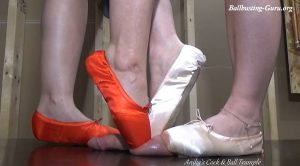 Ballbusting Ballerina's – Anika, Violet – Cock and Ball Trampling Girls