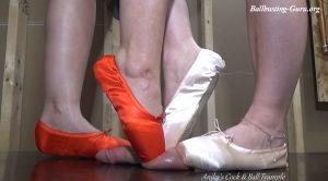 Ballbusting Ballerina's – Anika, Violet – Cock and Ball Trampling Girls