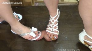 Can I Jump on It?? – Cock and Ball Trampling Girls