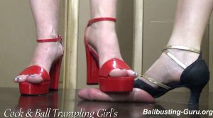 Cock & Balls Crushed under our dancing shoes! – Cock and Ball Trampling Girls