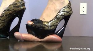 Will your Balls Survive these shoes? HD – Cock and Ball Trampling Girls