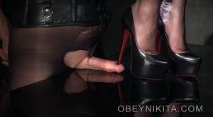 High Heel Cock Squish – Mistress Nikita FemDom Videos