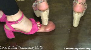 How do our Chunky Heels feel on your Cock! HD – Anika, Miss Mantis – Cock and Ball Trampling Girls