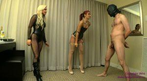 Amadahy and Cameron – Vicious Boot Kicks to Ball Bag – Brat Princess 2