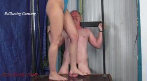 Full Weight on his Testicles – Bryan Balldacious, Cassandra Cain – Ballbustin' & Foot Lovin'