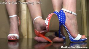 Poking Holes in Your Scrotum! HD – Cock and Ball Trampling Girls