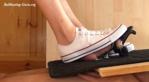 Pump the Cum on my Gas Pedal, feat. Alina in white low Chucks (HD 1920×1080) – Aballs and cock crushing sexbomb