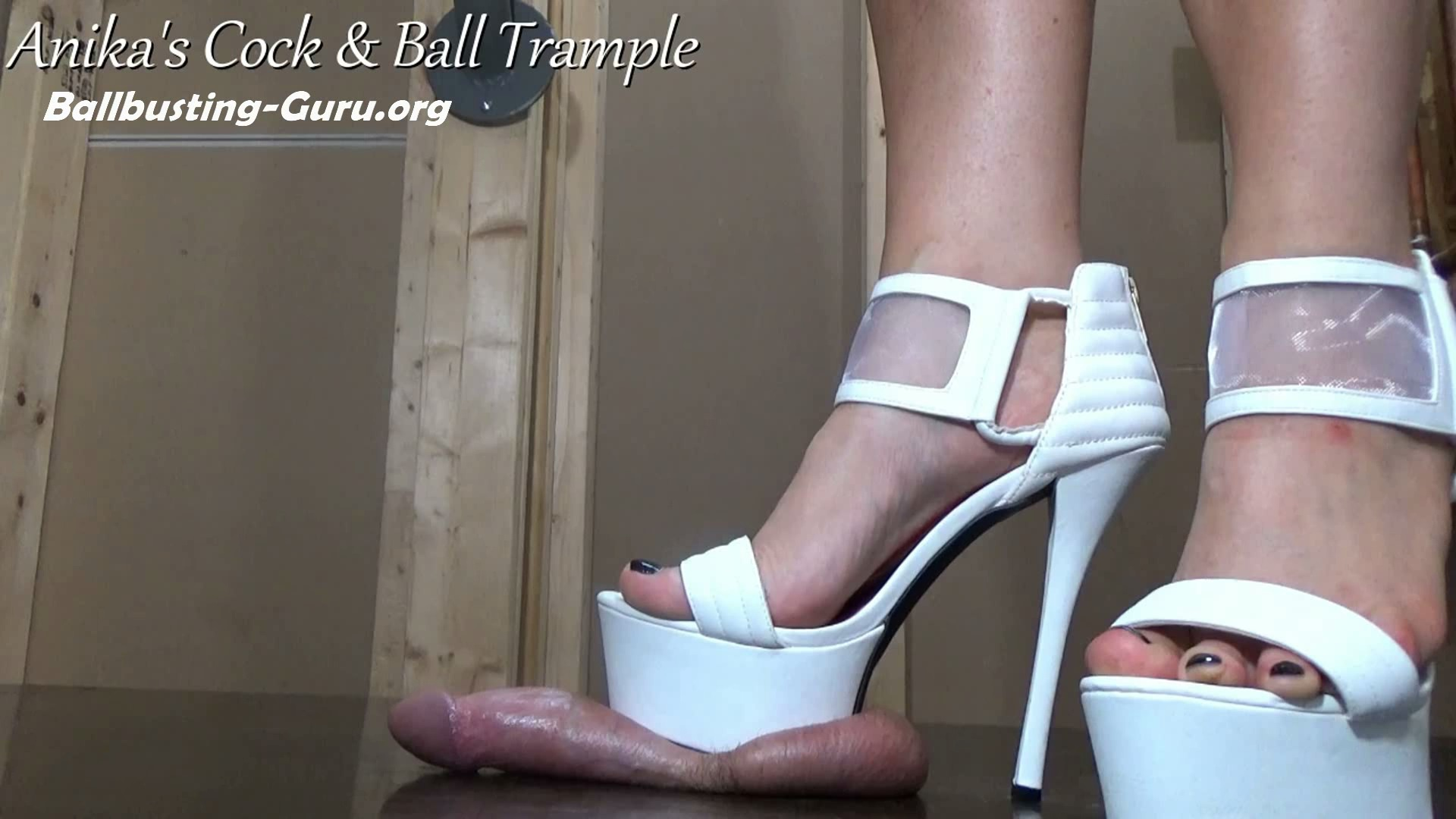 Balls beaten by White Platform Heels! HD - Anikas Cock and Ball Trample |  Ballbusting Guru