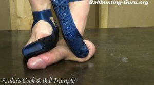Blue Ballet Flat Ball Crush! HD – Anikas Cock and Ball Trample