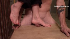 Chelsea cock ball crush barefoot! – Cock and Ball trample extreme