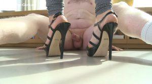 Cock treatment – kicks in the balls – Mistress Blackdiamoond