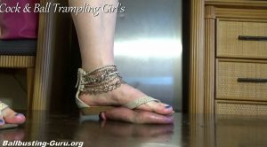 Teena and Anika Crush Balls in Sandals! HD – Cock and Ball Trampling Girls