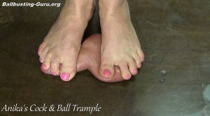 Exercising On your Genitals with Dirty Bare Feet! ALT – Anikas Cock and Ball Trample