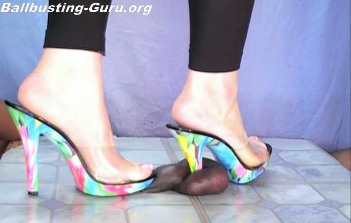 Ballbusting Feet Heels Ball Crushing