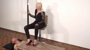 Lady Latisha's Extreme Sadistic Footjob & Shoejob Clip 3B – Oblique Side View! – High Heels Goddess – Lady Latisha
