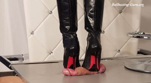 Lady Latisha's Soft Trampling Bootjob – Custom Clip – Close Up – High Heels Goddess – Lady Latisha