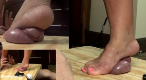 Marcy's Barefoot Ball Smash – HIGH HEEL Trample by Ms Christina