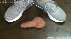 Running Shoes, Sock and Bare feet stepping on your Genitals! HD – Anikas Cock and Ball Trample