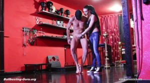 STRONG BALLBUSTING WITH MY CONVERSE ALL STAR HD – Mistress Iside