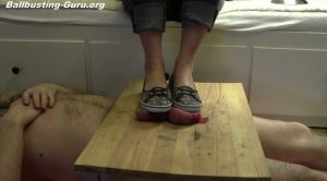 TESTICLES LIKE FOOTSTOOL FOR MY SNEAKERS – CRUELTY OF GODDESS JANE