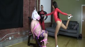 Jennifer and Sasha – The Last Unicorn is Captured and Ballbusted – Brat Princess 2