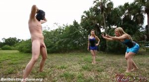 Busting His Nuts – Goddess Tessa Crane, Goddess Ginger – Cruel Unusual FemDom