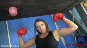 Ballbustin' & Foot Lovin' – Female Bodybuilder Ball Boxing – Sara Lips