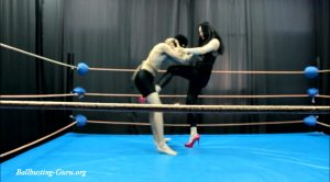 High heels ballbusting in the ring – Russian ballbusting and beatdown st – Karina Gotika
