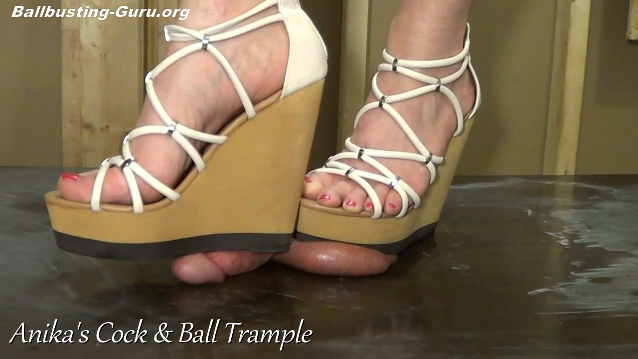 Ballbusting with different shoes old video p2