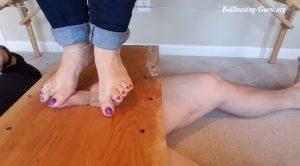 Ball Crushing Foot Tease Full Version – Queen Mandy