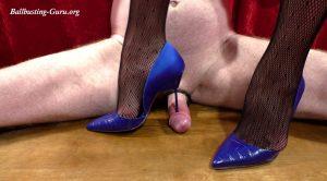 Blue Kurt Geiger stilettos work the spread slave HD – DOMINATED BY HEELS