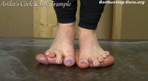 I Love the Feeling of Bursting Balls Beneath my Bare Soles! HD – Anikas Cock and Ball Trample