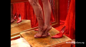 I take off my stilettos for the milking – DOMINATED BY HEELS – Mistress Julia