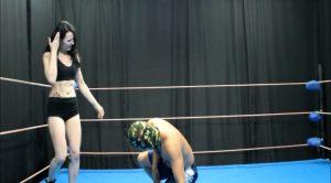 Kicking him hard in the crotch – Russian ballbusting and beatdown st – Karina Gotika