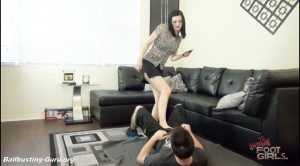 Bratty Foot Girls – Snapchat Ballbust – Goddess Nyxon, Jason Ninja