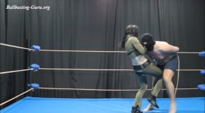 Superheroine kicks in the crotch – Russian ballbusting and beatdown st