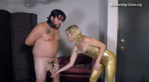 Ball and Nipple Pinching Game – Worship The Wolfe