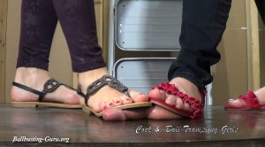 Crushed Under our Sandals! HD – Cock and Ball Trampling Girls – Anika, Mistress Ivory